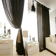Sheer Gold Curtains Gold Sparkle Black Textured Weave Curtain Drapery Panel