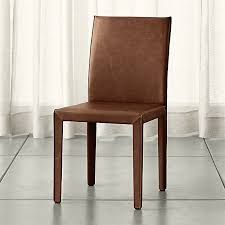 folio sienna top grain leather dining chair crate and barrel