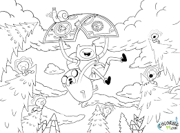 adventure coloring pages cartoon network coloringstar