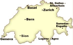 map of swiss airports switzerland travel information