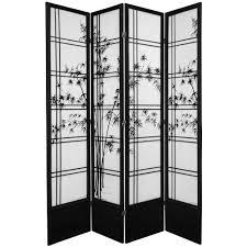 4 panel room divider oriental furniture 7 ft black shoji 2 panel sliding door shoji