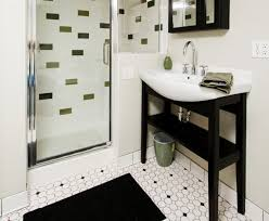 inspiration ideas black and white bathroom floor tile new