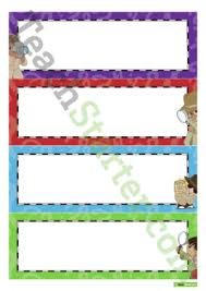 Desk Name Tags by Name Tags Teaching Resources U2013 Teach Starter