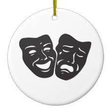 drama theatre mask christmas tree decorations u0026 ornaments zazzle