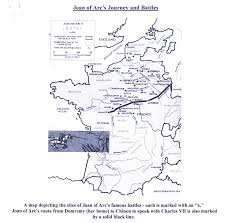 Rouen France Map by Map Of Joan U0027s Journey And Battles