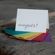 congrats letterpress cards eco friendly ladybug press