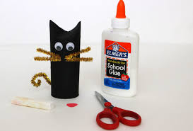 diy toilet roll black cat craft