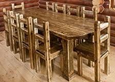 grande table de cuisine grande table de cuisine fabriquée à la image stock image du