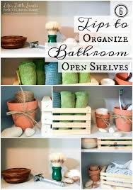 Bathroom Shelves Target Tips To Organize Bathroom Open Shelves Scotch Brite