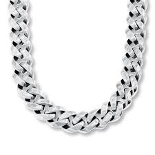 chain necklace mens images Pleasurable mens chain necklace kay men s curb stainless steel 24 jpg