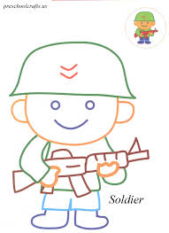 soldier coloring pages preschool crafts