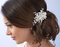 wedding hair clip bridal hair clip etsy