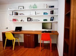 Office Desk Shelves Teak Waterfall Desk Floating Shelves Suite Contemporary Home