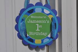 Personalized Party Decorations Boys 1st Birthday Party Door Sign Personalized Party Decorations