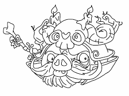 angry birds epic coloring page wizard pig my free coloring