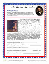 biography of abraham lincoln download abraham lincoln facts worksheet education com