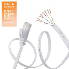 amazon com cat 6 flat ethernet cable 100 ft white with cable