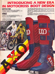 used motocross boots here are some cool classic axo sport ads for your enjoyment moto