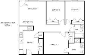 3 Bedroom Plan 3 Bed 2 Bath Apartment In San Marcos Tx Asbury Place Asbury