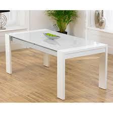 White Glass Extending Dining Table Lexus High Gloss White Glass Dining Table Only Dining Room