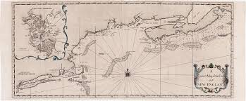New England Map by Cyprian Southack U0027s Chart Of The New England Coast Rare U0026 Antique