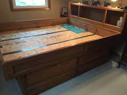 Water Bed Frames King Waterbed Frame With Drawers Drawer Furniture