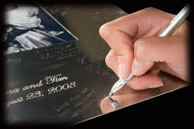 engravable guest book signature frames