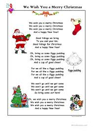 song we wish you a merry worksheet free esl