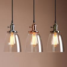 Glass L Shades For Ceiling Lights Retro Antique Copper Cafe Bar Metal Pendant L Glass Cone Shade