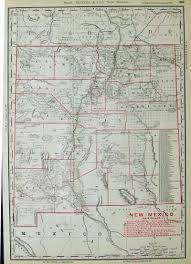 Map New Mexico by Prints Old U0026 Rare New Mexico Page