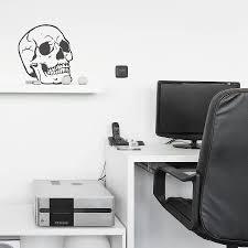 skull vinyl wall sticker by oakdene designs notonthehighstreet com skull vinyl wall sticker