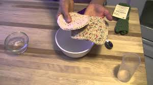 how to set the color in handmade cotton dish cloths and scrubbies