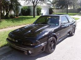 All Black Mustang Beast11187 1991 Ford Mustanggt Hatchback 2d Specs Photos