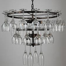 Chandelier Wine Glass American Style Retro Lamp Metal Vintage Pendant 6 Lamp Pendant