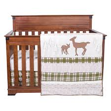 Deer Crib Sheets Deer Lodge 3 Piece Crib Bedding Set Trend Lab