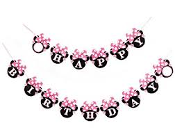 amazon happy birthday banner minnie mouse style party