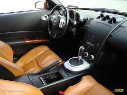 orange nissan 350z 2006 nissan 350z touring coupe burnt orange leather dashboard
