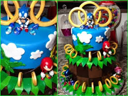sonic cake topper sonic the hedgehog birthday fondant cake