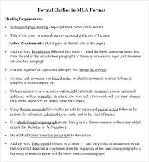 research outline template 10 free sample example format research