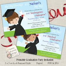 kindergarten graduation announcements boys graduation invitation kindergarten graduation announcement