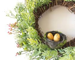 Home Decor Artificial Plants Aliexpress Com Buy Bird U0027s Nest Artificial Plants Wreaths Door