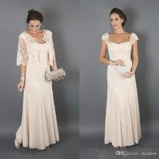 2017 elegant champagne colour with jackets mother of the bride