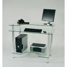 Glass Top Desk With Keyboard Tray Glass Top Computer Desk With Storage China Multifunctional Glass