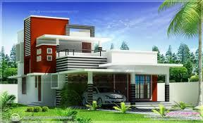 exterior contemporary style house kerala and floor modern villa