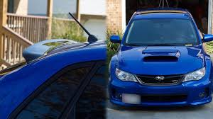 hic rear window spoiler install subaru wrx sti youtube