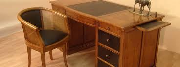 bureau merisier bureau ministre en merisier bora meubles bois massif