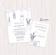 mason jar and lavender invitation and rsvp set wedding