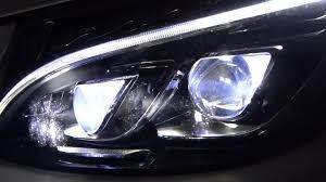 mercedes led headlights w205 mercedes benz c class led lights ils test presentation leds