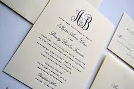 Classic Wedding Invitations Classic Monogram Wedding Invitations Jpress Designs Letterpress