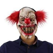Evil Clown Halloween Costume Face Scary Clown Mask Latex Halloween Costume Evil Creepy